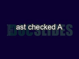 ast checked A