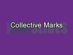 Collective Marks PowerPoint PPT Presentation