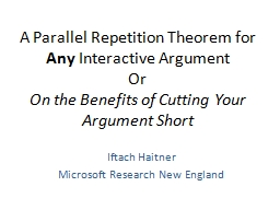 A Parallel Repetition Theorem for