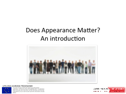Does Appearance Matter?