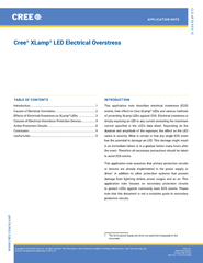 CLD-AP29 REV 1CCree LED Electrical OverstressINTRThis application note