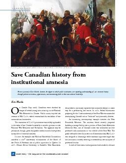 Save Canadian history from Eric Marksn Canada Day, 2006, Canadians wer