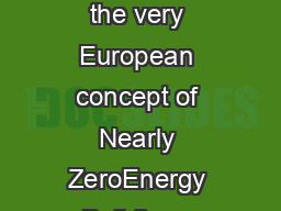 European Council or an Energy Efcient Economy eceee April  Understanding the very European concept of Nearly ZeroEnergy Buildings Steering through the maze  revised A guide from the European Council