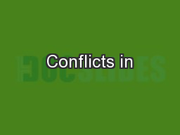 Conflicts in