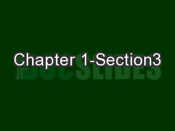 Chapter 1-Section3