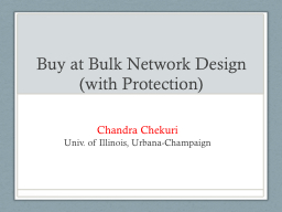 Buy at Bulk Network Design