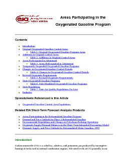 Areas Participating in theOxygenated Gasoline Program