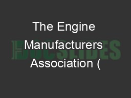 The Engine Manufacturers Association Pdf Document