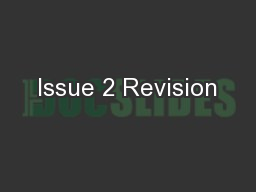 Issue 2 Revision
