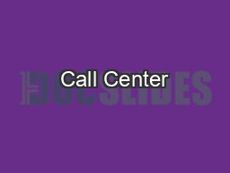 Call Center PowerPoint PPT Presentation