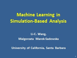 Machine Learning in Simulation-Based Analysis