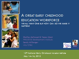 A  Great Early Childhood Education