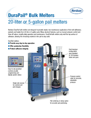 20-liter or 5-gallon pail melters
