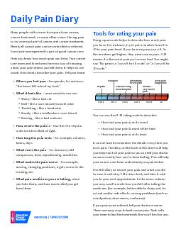 Pain Diary For Pdf Document