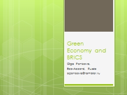 Green Economy and BRICS