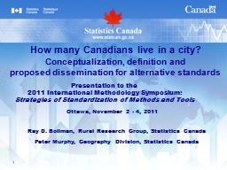 1 Ray D. Bollman, Rural Research Group, Statistics