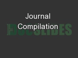 Journal Compilation