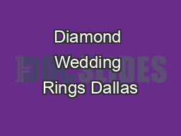 Diamond Wedding Rings Dallas