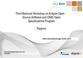 Third Biannual Workshop on Eclipse Open Source Software and OMG Open S PowerPoint PPT Presentation