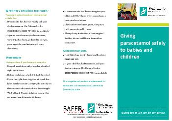 Giving too much can be Giving paracetamol safely to babies and childre PowerPoint PPT Presentation