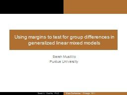 Using margins to test for group differences in generalized