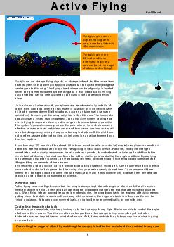 1        Paragliders are strange flying objects, so strange indeed, th