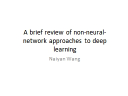 A brief review of non-neural-network approaches to deep lea
