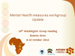 Mental Health measures workgroup