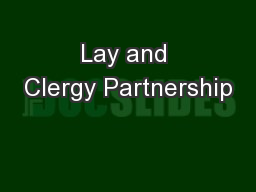 Lay and Clergy Partnership