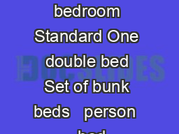 person  bedroom Standard One double bed Set of bunk beds   person   bed PowerPoint PPT Presentation
