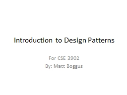 Introduction to software design patterns PowerPoint PPT Presentation
