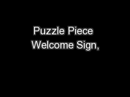 Puzzle Piece Welcome Sign,