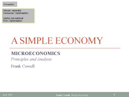 A Simple Economy