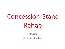 Concession Stand Rehab PowerPoint PPT Presentation