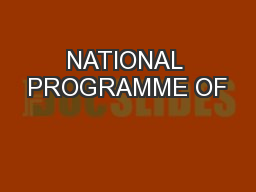 NATIONAL PROGRAMME OF
