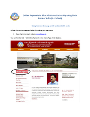Payments to Bharathidasan University using State