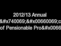 2012/13 Annual Cer��cate of Pensionable Prof