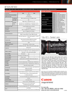 CANON XFXF HIGH DEFINITION CAMCORDERS Key Features PROFESSIONAL PRODUCTS Recommended For Engineered to outperform demanding expectations Canons XF and XF are impressive professional tapeless HD camco