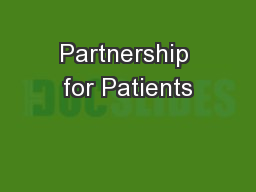 Partnership for Patients PowerPoint PPT Presentation