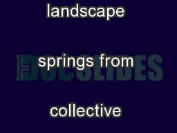 The image of the urban landscape springs from collective energy but  .