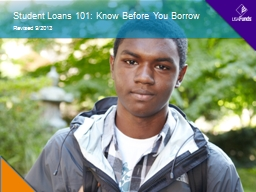 Student Loans 101: Know Before You Borrow