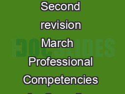 Professional Competencies for Canadian Pharmacists at Entry to Practice Second revision March   Professional Competencies for Canadian Pharmacists at Entry to Practice  National Association of Pharma