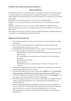 Peripatetic  Music Teacher Casual Employment Agreement