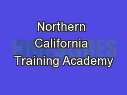 Northern California Training Academy