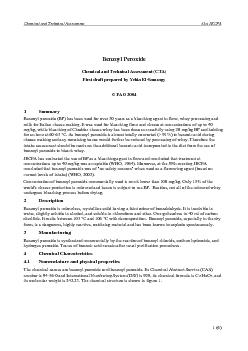 Chemical and Technical Assessment  61st JECFA