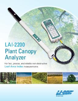 For fast precise and reliable nondestructive Leaf Area Index measurements LAI Plant Canopy Analyzer  The LAI Plant Canopy Analyzer computes Leaf Area Index LAI and a variety of other canopy structure