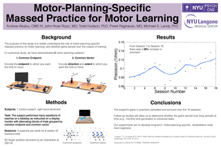 Massed Practice for Motor Learning ConclusionsThe subject's gains