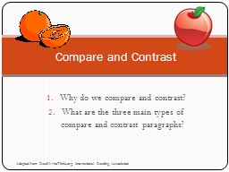 Why do we compare and contrast?