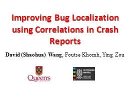 Improving Bug Localization using Correlations in Crash Repo