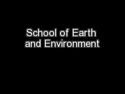 School of Earth and Environment PowerPoint PPT Presentation